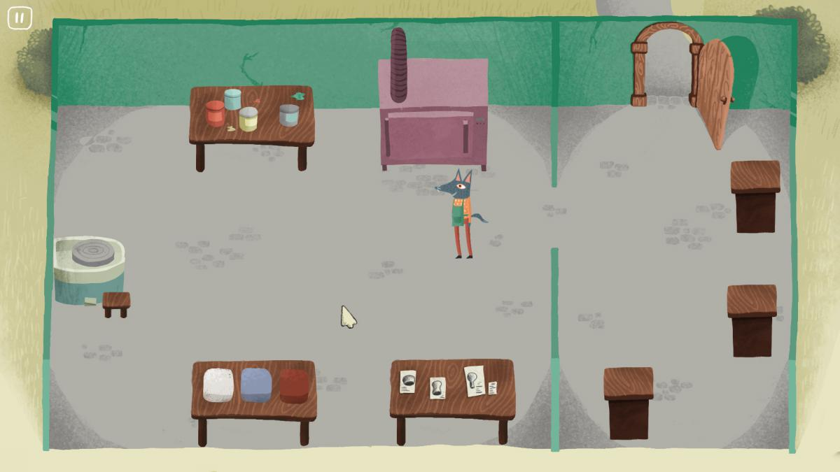 A screenshot of the pottery workshop in our game Seize the Clay